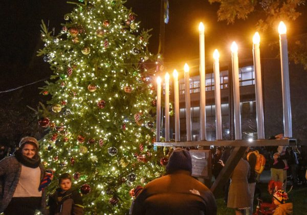 A Menorah and the holiday tree were the stars of Friday night's 2017 Holiday Tree Lighting ceremony.